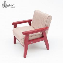 Кресло для кукольного домика Камыш бежевое