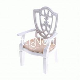 Кресло для  кукольного домика Кмин белое