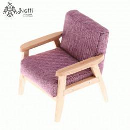 Кресло для кукольного домика Камыш малиновое