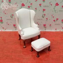 Кресло для  кукольного домика Квини белое