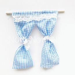 Занавески для кукол Сегье голубые