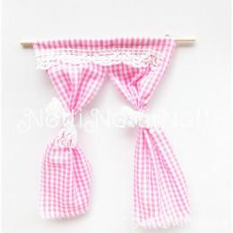 Занавески для кукол Сегье розовые