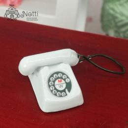 Телефон для кукол Дракула белый