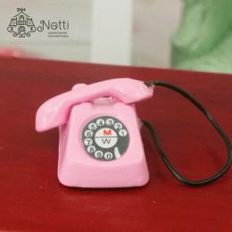 Телефон для кукол Дракула розовый