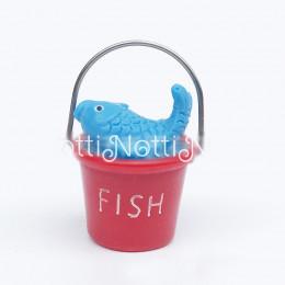 Детское ведерко для кукол с рыбкой