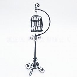 Кукольная клетка для птиц Жожоба черная