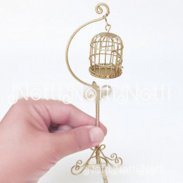 Кукольная клетка для птиц Жожоба золотистая