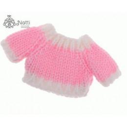 Свитер для кукол Лукас розовый