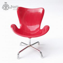 Кресло для кукольного домика Маккорт красное