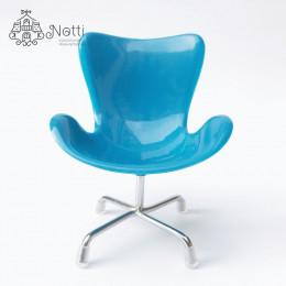 Кресло для кукольного домика Маккорт голубое