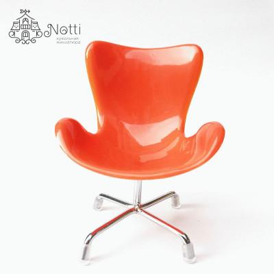 Кресло для кукольного домика Маккорт оранжевое
