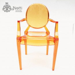 Кресло для кукольного домика Купер оранжевое