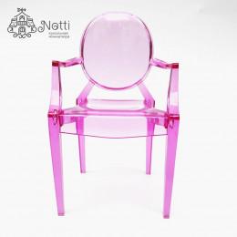 Кресло для кукольного домика Купер розовое