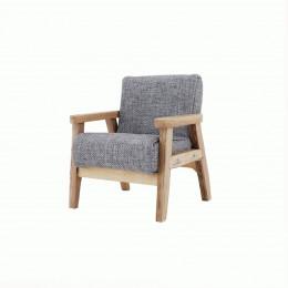 Кресло для кукольного домика Камыш серое