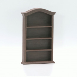 Книжный шкаф для кукольного домика Бикса темная сепия