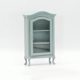 Шкаф горка для кукольного домика васильковая бирюза