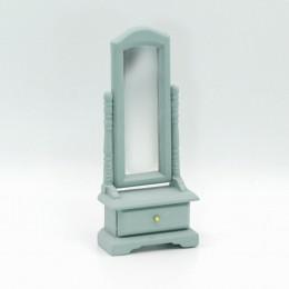 Напольное зеркало для кукольного домика Диадема васильковая бирюза