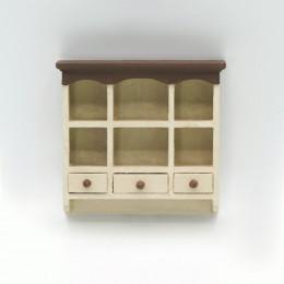 Навесной шкафчик для кукольного домика Риолит светлая охра