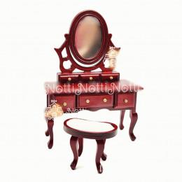 Туалетный столик для кукольного домика Ривьера амарант