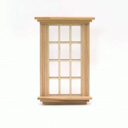 Окно для кукольного домика глухое с подоконником (английская решетка)