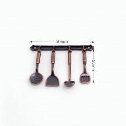 Набор кухонных принадлежностей для кукол бронзовый