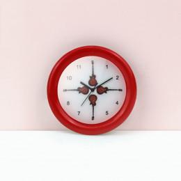Настенные часы для кукольного дома красные G10305