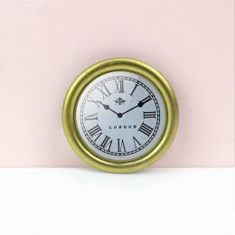 Настенные часы для кукольного дома золотистые G10306