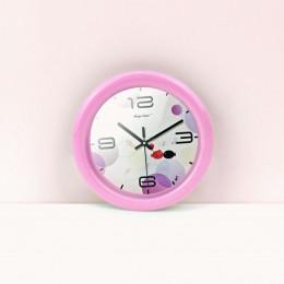 Настенные часы для кукольного дома розовые G10311