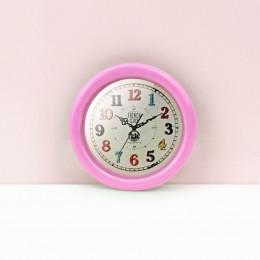 Настенные часы для кукольного дома розовые G10312