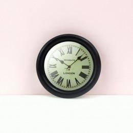 Настенные часы для кукольного дома черные G10314