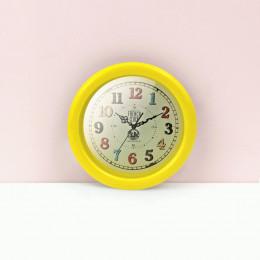 Настенные часы для кукольного дома желтые G10316
