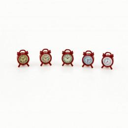 Будильник для кукольного дома красный G10331