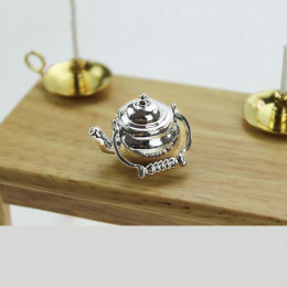 Чайник для кукол Урсула серебристый
