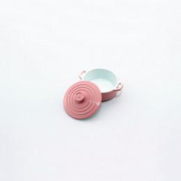 Кастрюля для кукол Джино розовая