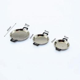 Комплект сковородок для кукол Адольфо серебристый с черными ручками