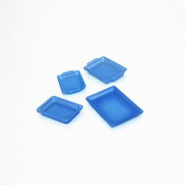 Набор пластиковых лотков для кукол ультрамарин