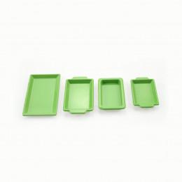 Набор металических лотков для кукол зеленый