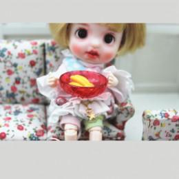 Блюдо для кукол Мелисса красное