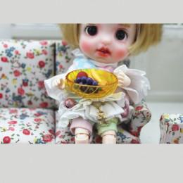 Блюдо для кукол Мелисса желтое
