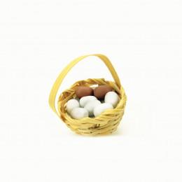 Корзинка с яйцами для кукол Белинская