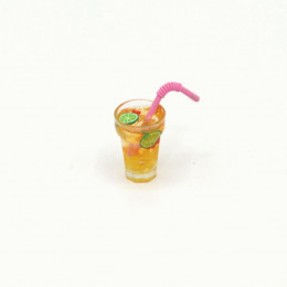 Напиток для кукол цитрус-лайм с трубочкой