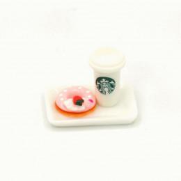 Набор для кукол кофе и пончик