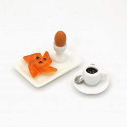 Набор для кукол кофе, яйцо, выпечка