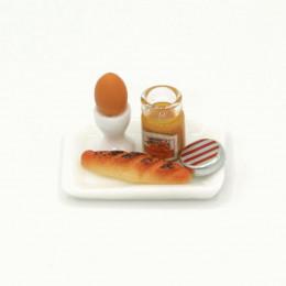 Набор для кукол яйцо, выпечка, конфитюр