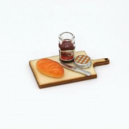 Набор для кукол выпечка конфитюр на доске