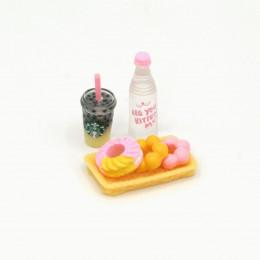Набор для кукол напитки и пончики на лотке