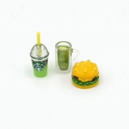 Набор для кукол напитки и бургер