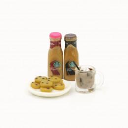 Набор для кукол печенье на блюде, горячий шоколад и топпинг для кофе