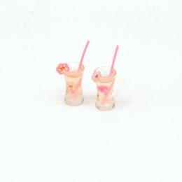 Набор коктейлей для кукол 2 шт. розовые