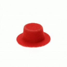 Шляпка для кукол Киокар красная